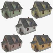 Cottage twee verzameling 3d model