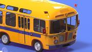 karikatür otobüs 3d model