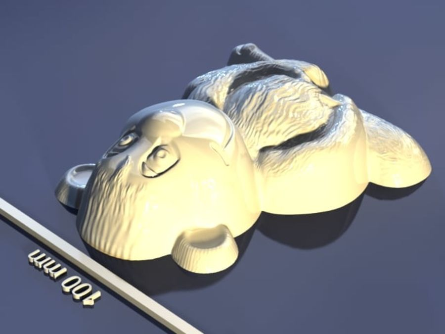 Macaco royalty-free 3d model - Preview no. 5