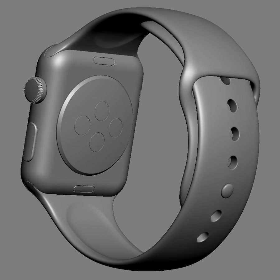 アップルウォッチスポーツ42mm royalty-free 3d model - Preview no. 9