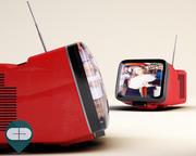 телевизор брионвега 3d model
