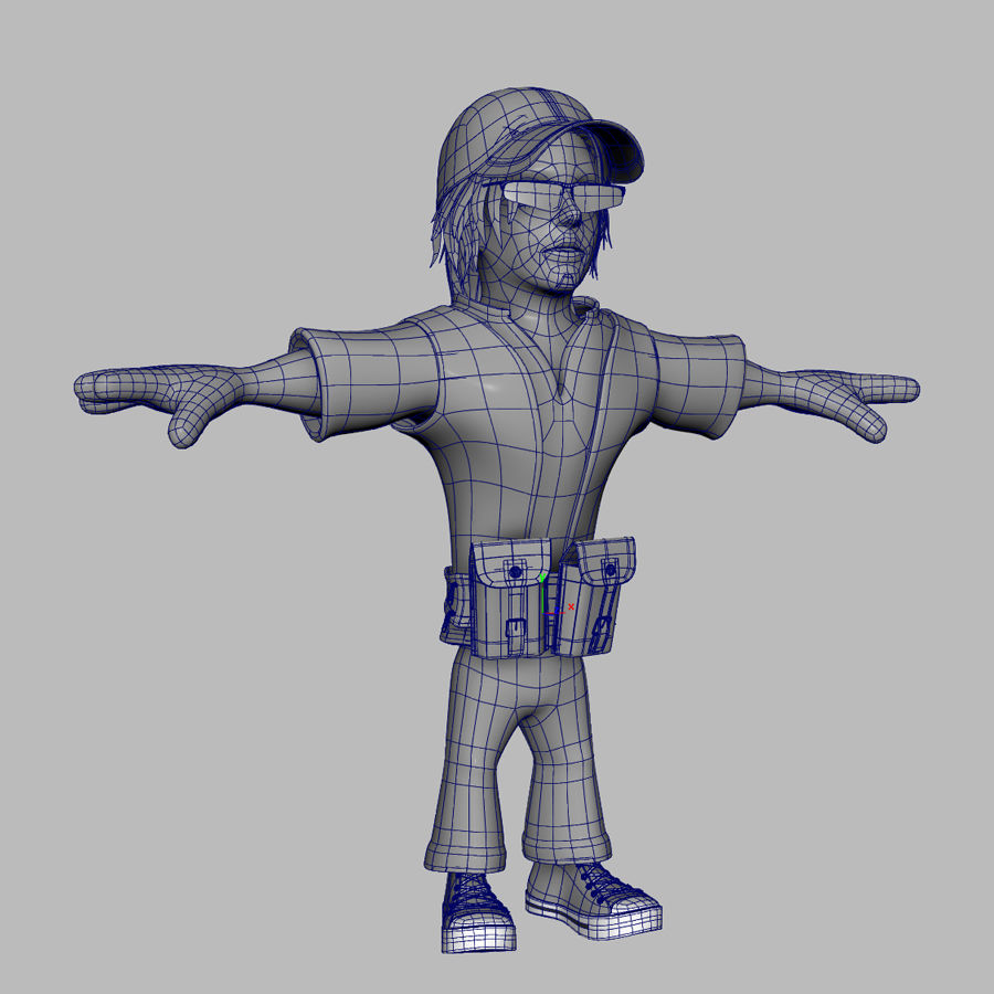 Man Cartoon Character royalty-free 3d model - Preview no. 10