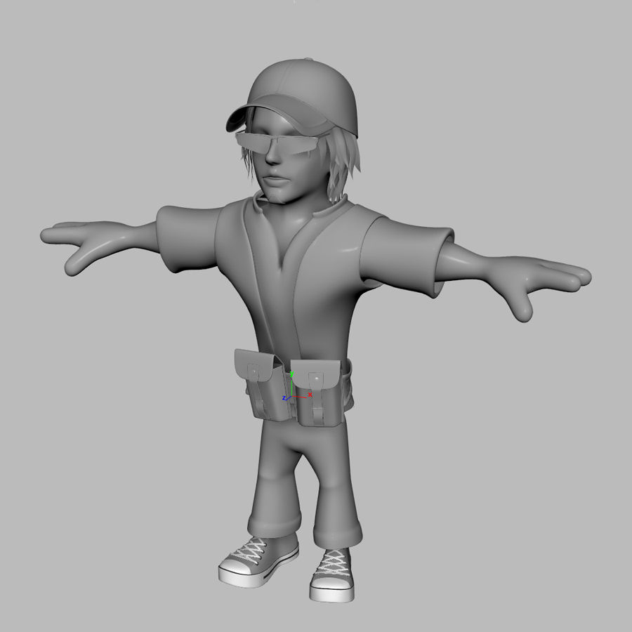 Man Cartoon Character royalty-free 3d model - Preview no. 8