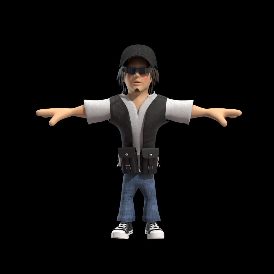 Man Cartoon Character royalty-free 3d model - Preview no. 3