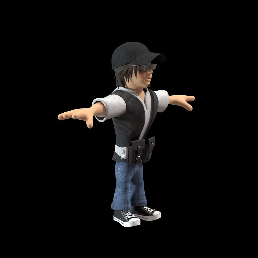 Man Cartoon Character royalty-free 3d model - Preview no. 4