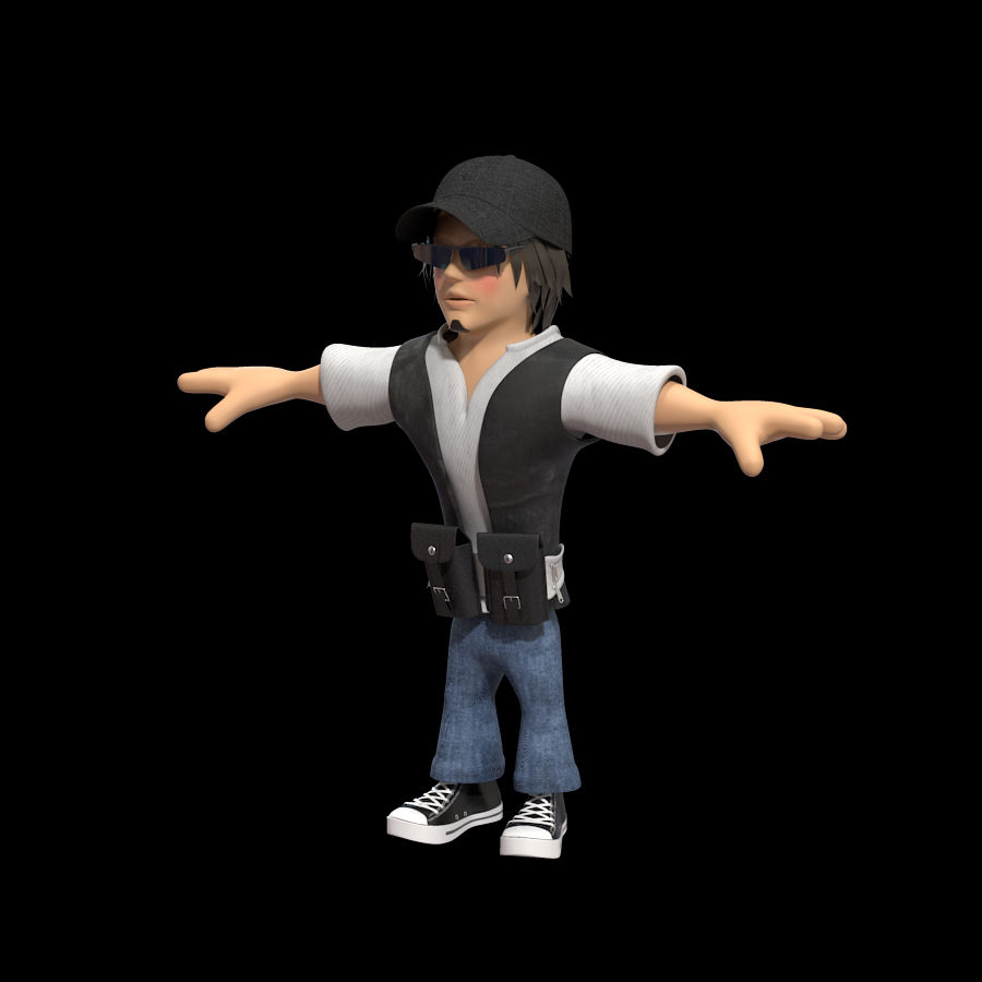 Man Cartoon Character royalty-free 3d model - Preview no. 2
