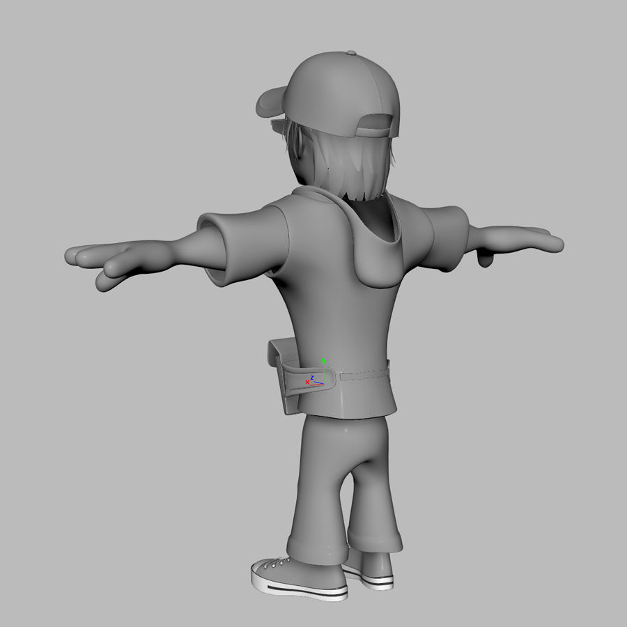 Man Cartoon Character royalty-free 3d model - Preview no. 9
