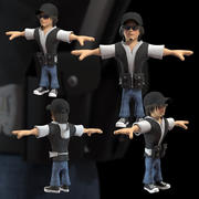Man Cartoon Character 3d model
