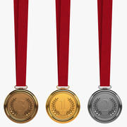 Collection Of Medals 3d model