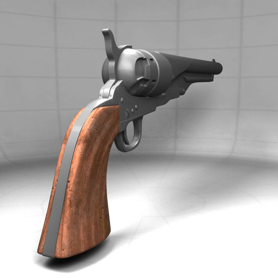 1860 Colt Revolver royalty-free 3d model - Preview no. 8