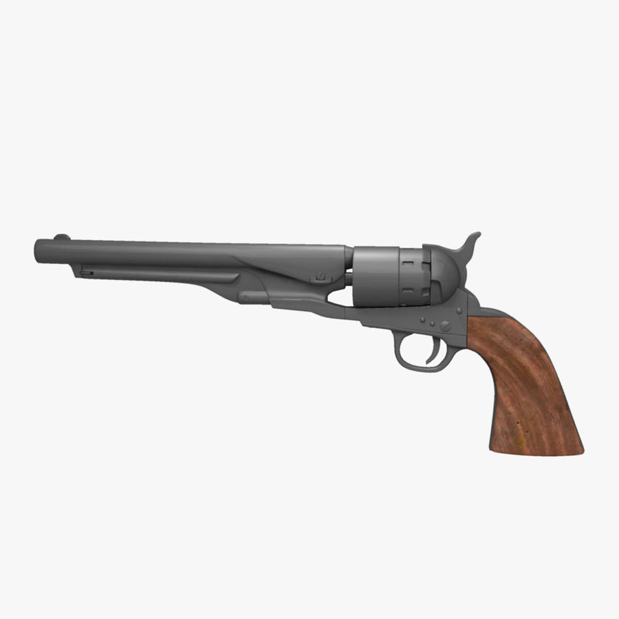 Revolver de 1860 Colt royalty-free 3d model - Preview no. 5