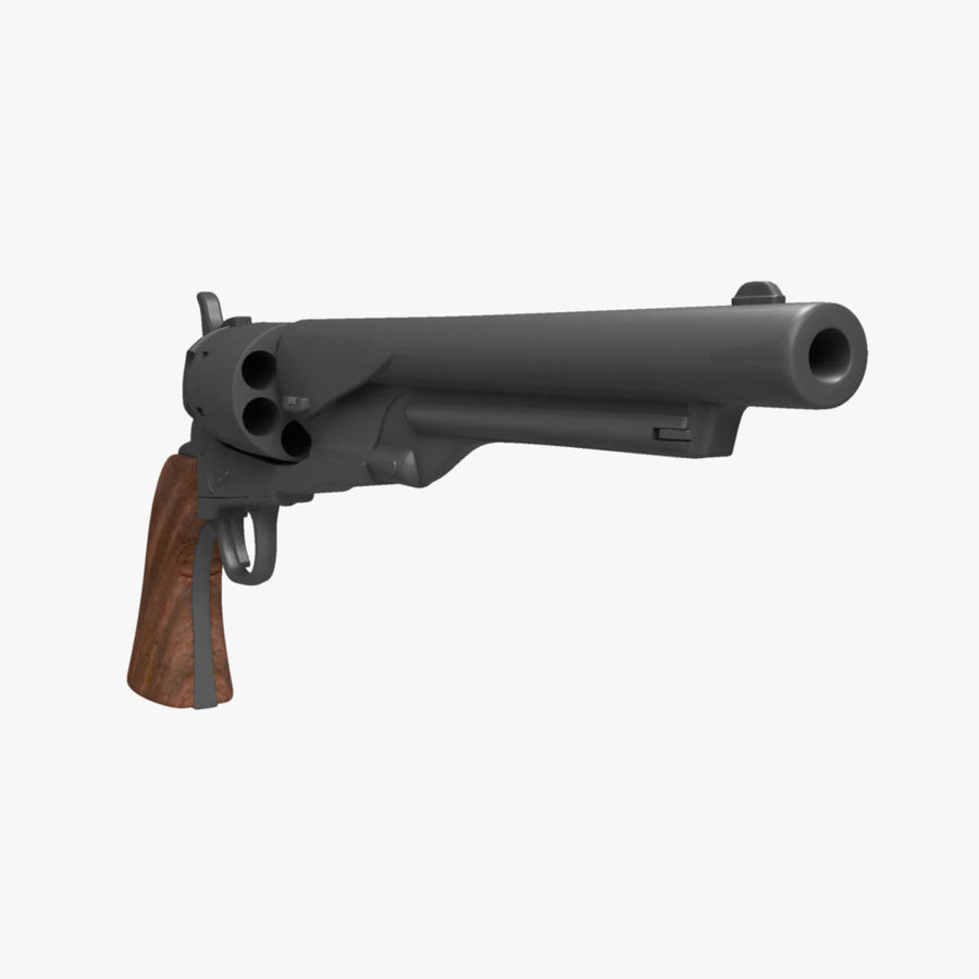 1860 Colt Revolver royalty-free 3d model - Preview no. 6