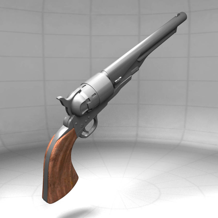 1860 Colt Revolver royalty-free 3d model - Preview no. 2