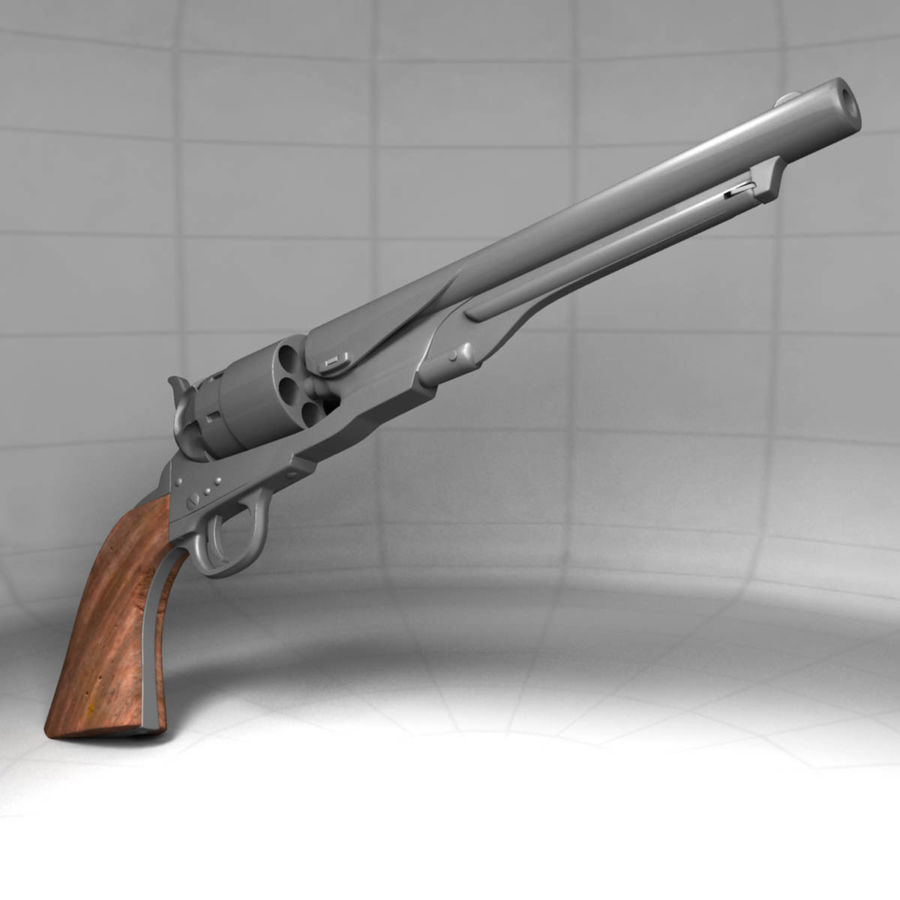 1860 Colt Revolver royalty-free 3d model - Preview no. 3