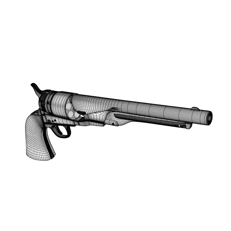 Revolver de 1860 Colt royalty-free 3d model - Preview no. 9
