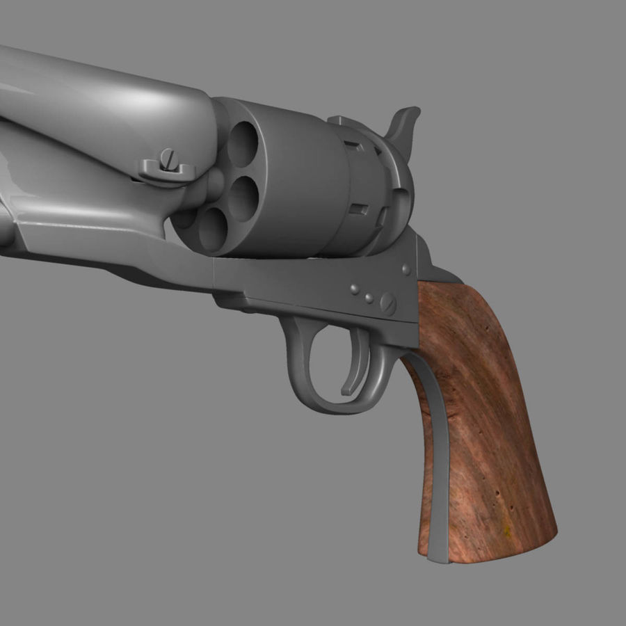 1860 Colt Revolver royalty-free 3d model - Preview no. 10