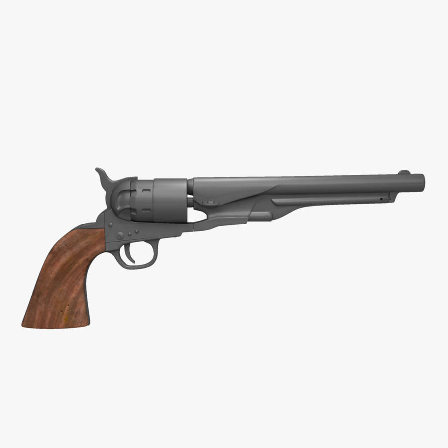 Revolver de 1860 Colt royalty-free 3d model - Preview no. 1