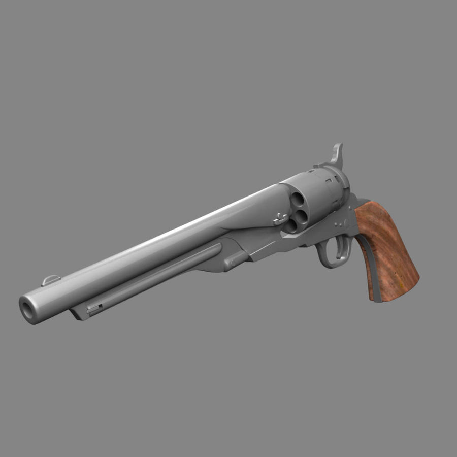 1860 Colt Revolver royalty-free 3d model - Preview no. 11