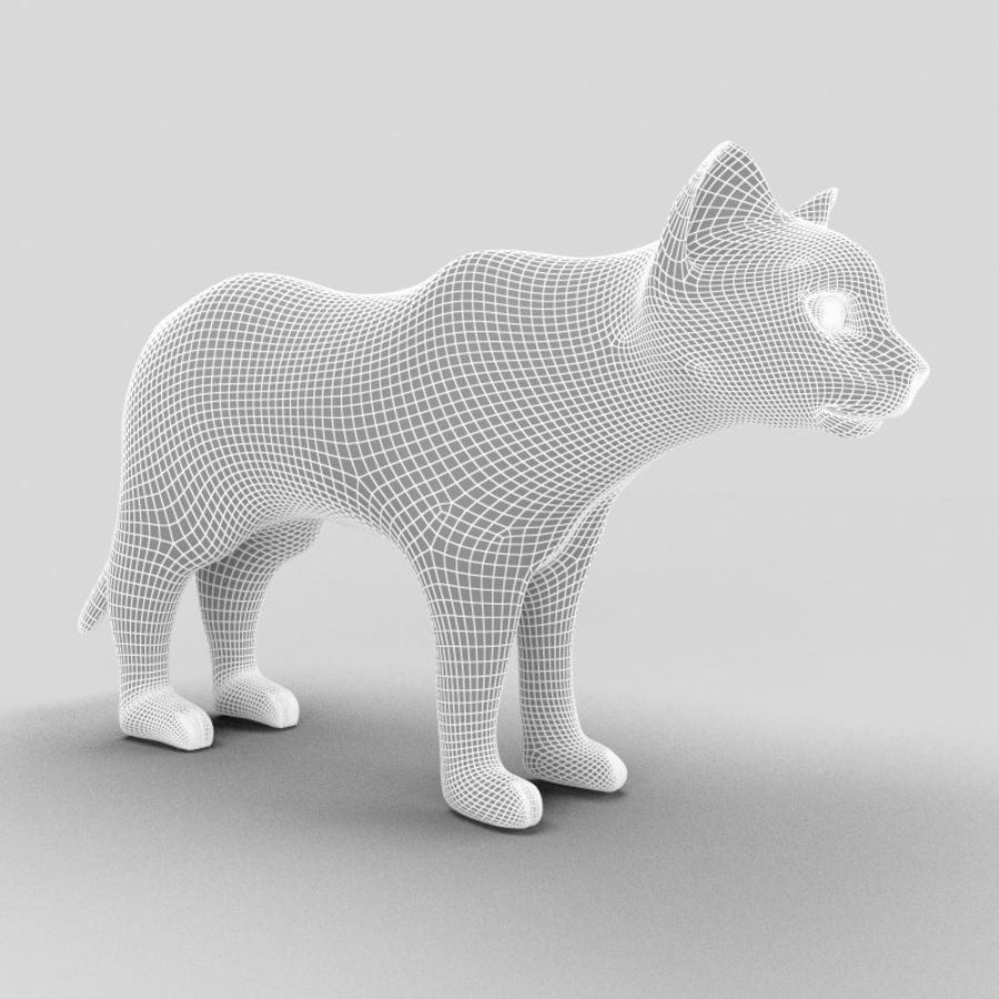 Cat royalty-free 3d model - Preview no. 10
