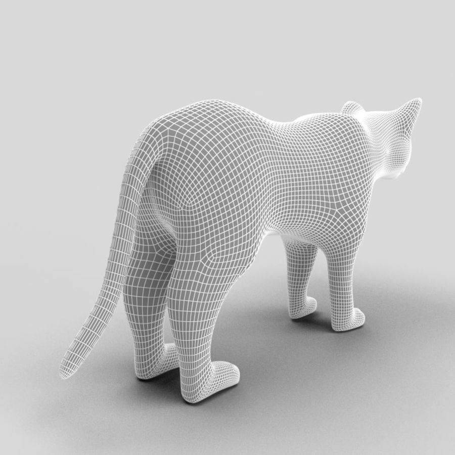 Cat royalty-free 3d model - Preview no. 13