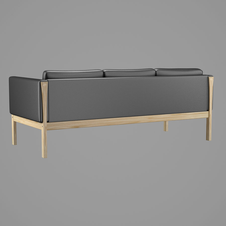 CH163 Hans J. Wegner Sofa royalty-free 3d model - Preview no. 5