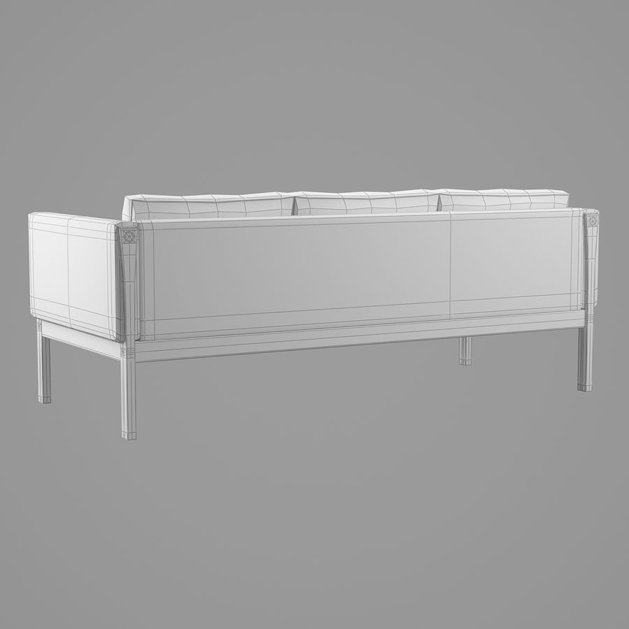 CH163 Hans J. Wegner Sofa royalty-free 3d model - Preview no. 10