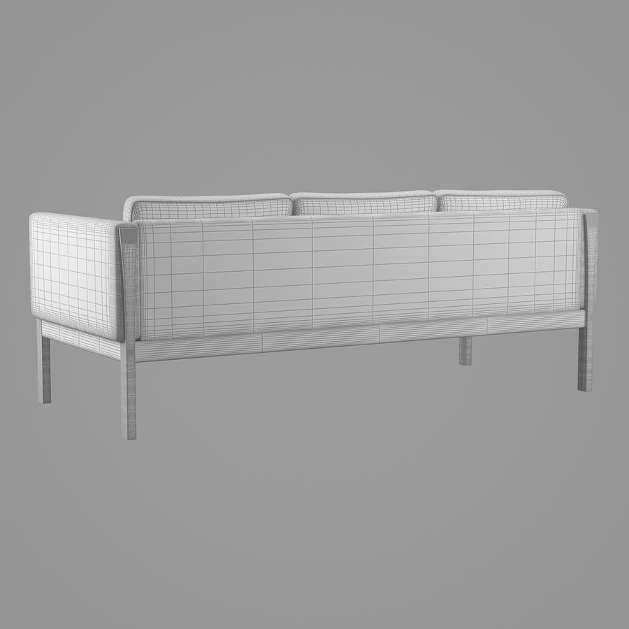 CH163 Hans J. Wegner Sofa royalty-free 3d model - Preview no. 9