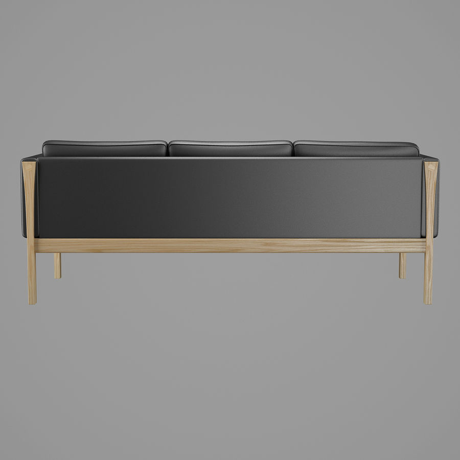 CH163 Hans J. Wegner Sofa royalty-free 3d model - Preview no. 6