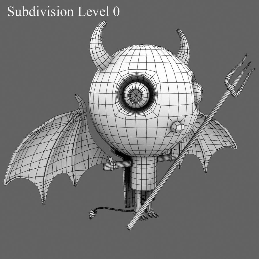 귀여운 악마 royalty-free 3d model - Preview no. 16