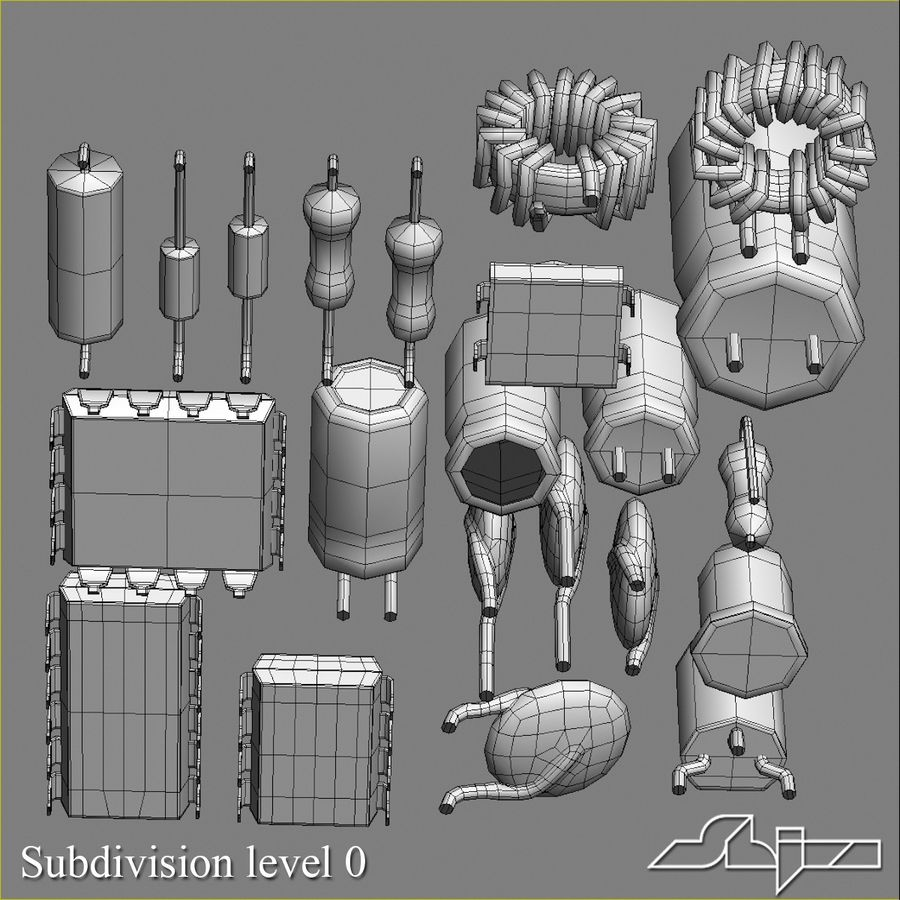 Electronic Components royalty-free 3d model - Preview no. 11