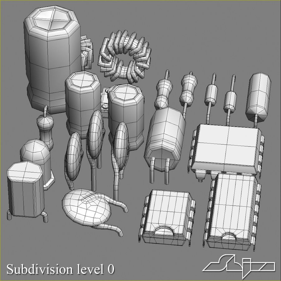 Electronic Components royalty-free 3d model - Preview no. 9