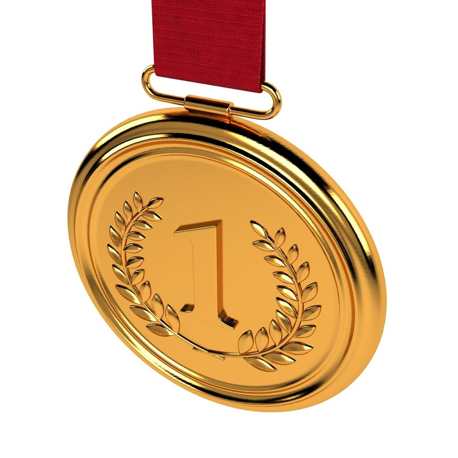 Gold Medal royalty-free 3d model - Preview no. 2