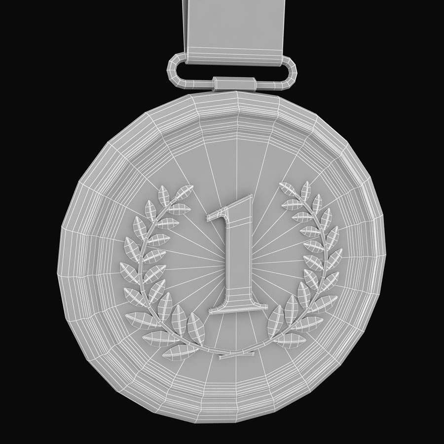 Złoty medal royalty-free 3d model - Preview no. 6