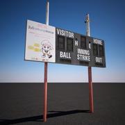 Baseball Scoreboard 3d model