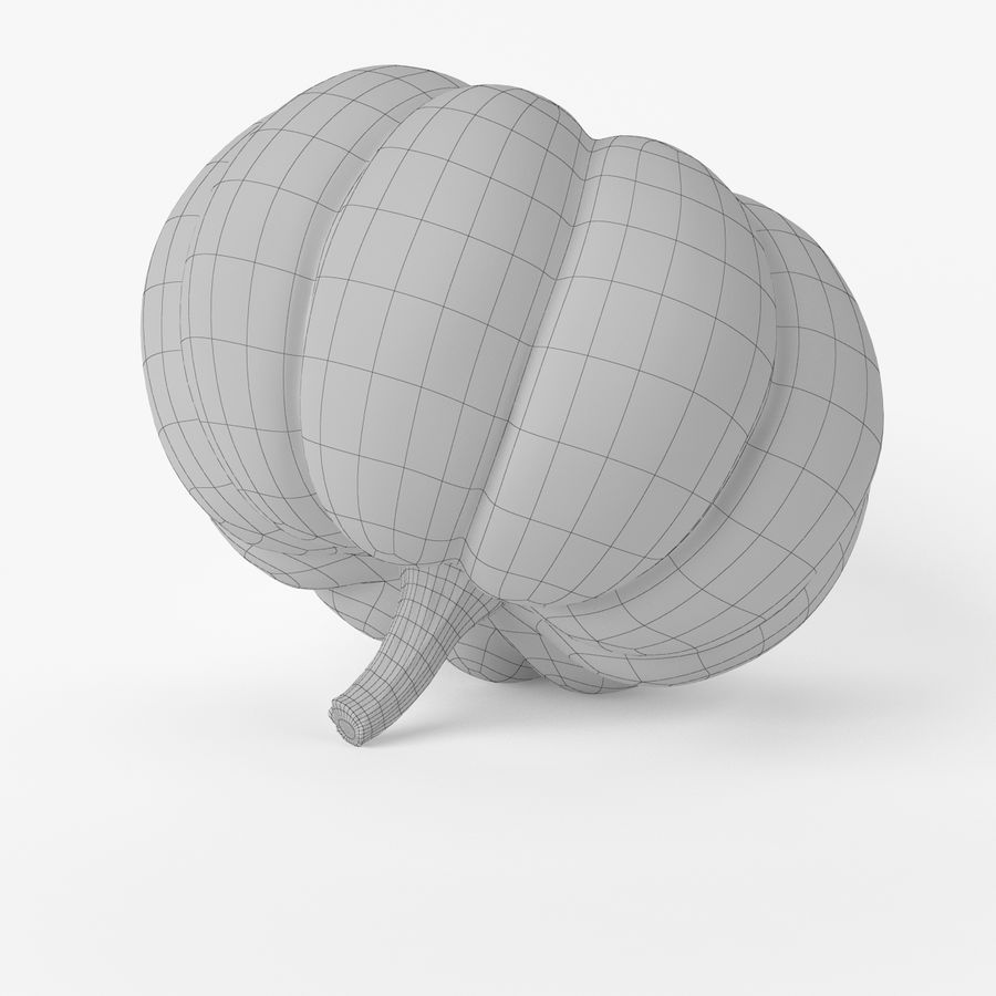 Citrouille réaliste royalty-free 3d model - Preview no. 8