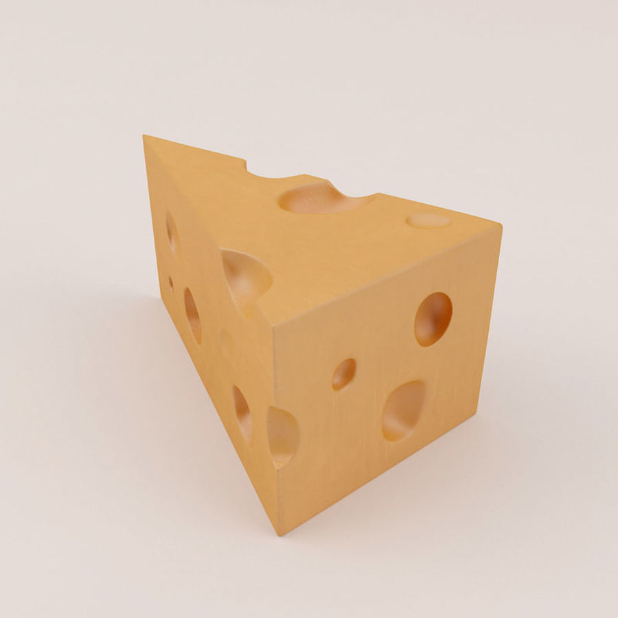 Cheese royalty-free 3d model - Preview no. 7