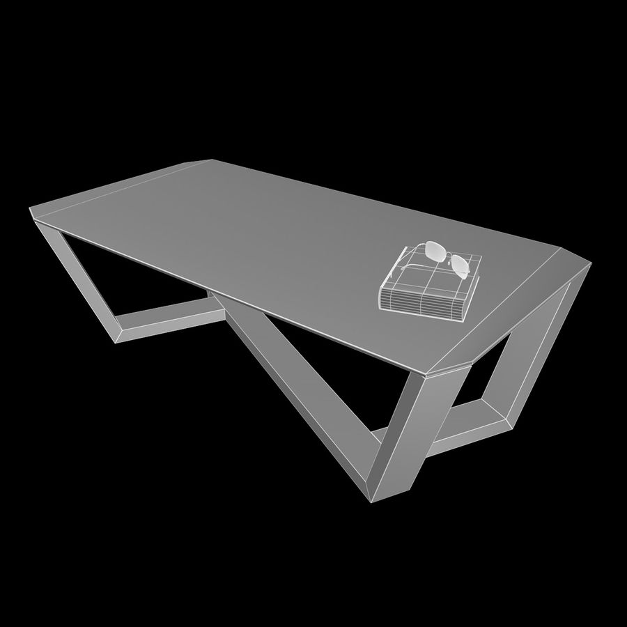 Mesa de café design royalty-free 3d model - Preview no. 4