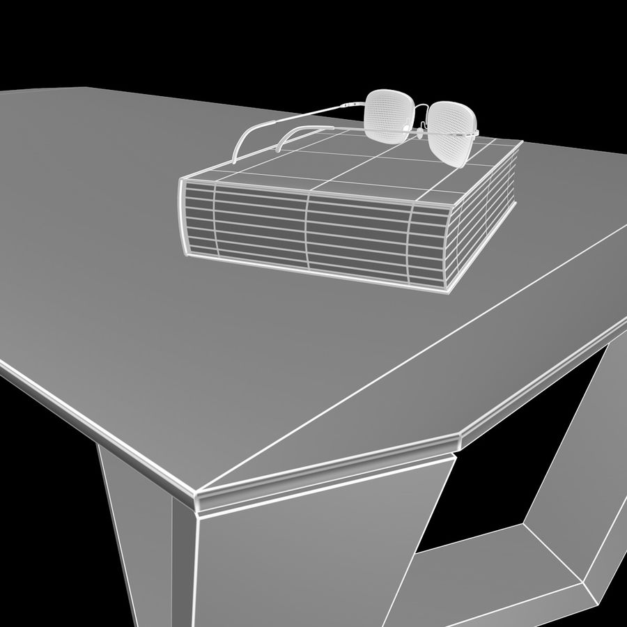 Mesa de café design royalty-free 3d model - Preview no. 8