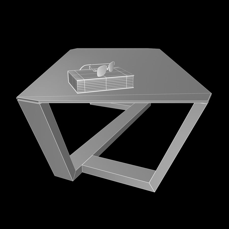 Mesa de café design royalty-free 3d model - Preview no. 7