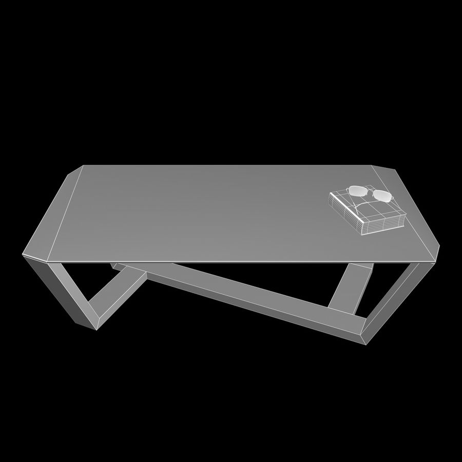 Mesa de café design royalty-free 3d model - Preview no. 5