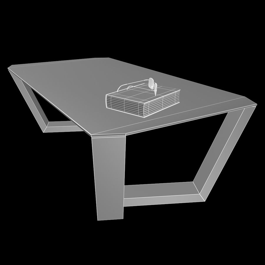 Mesa de café design royalty-free 3d model - Preview no. 3