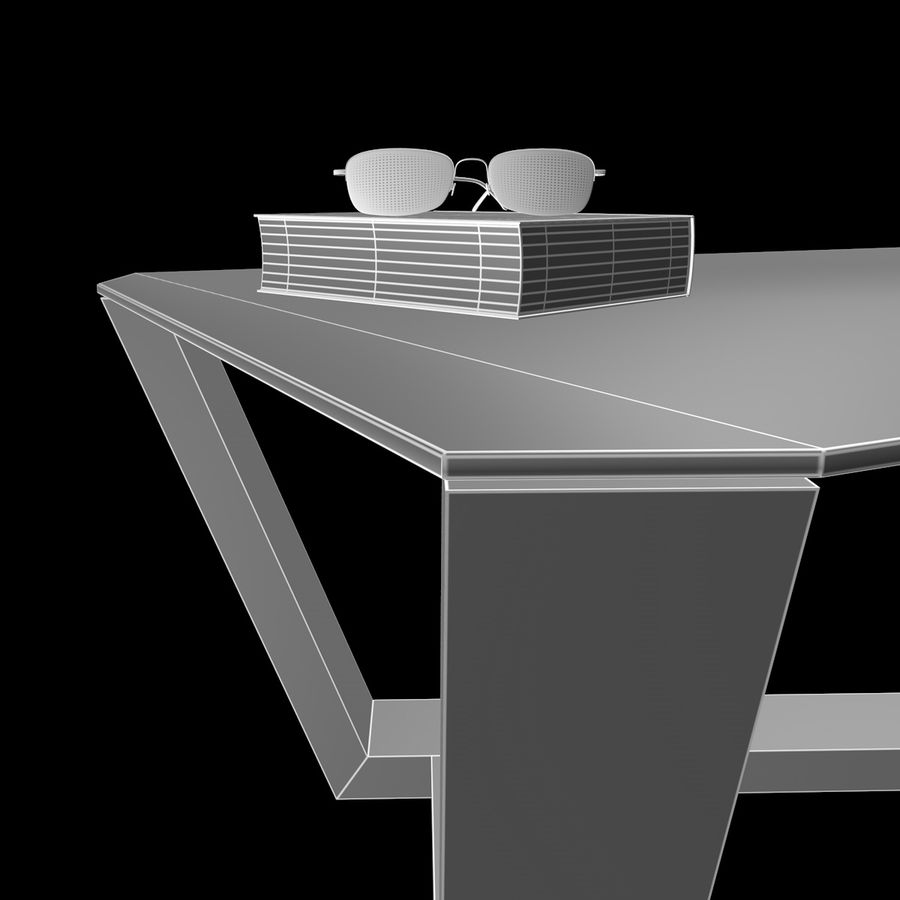 Mesa de café design royalty-free 3d model - Preview no. 9