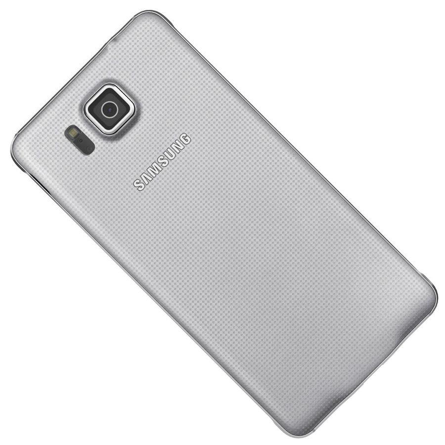 Samsung Galaxy Alpha elegante prata royalty-free 3d model - Preview no. 23