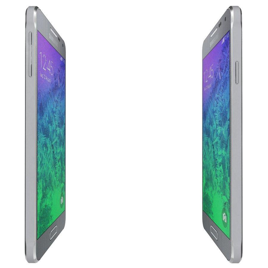 Samsung Galaxy Alpha elegante prata royalty-free 3d model - Preview no. 11