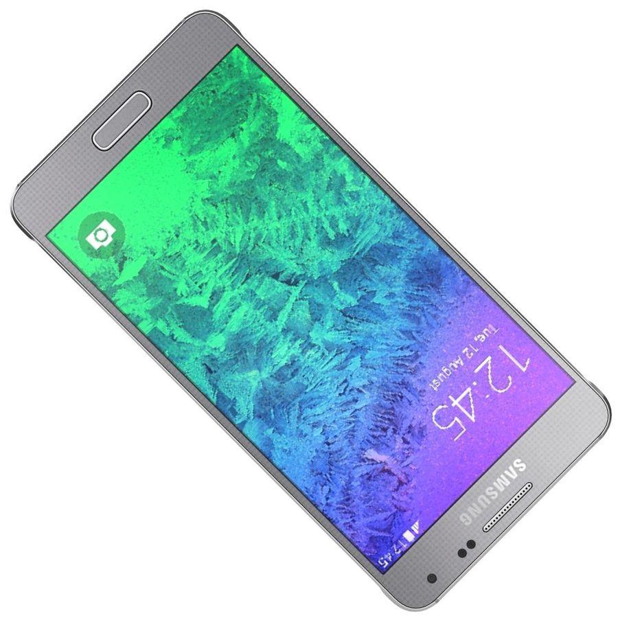 Samsung Galaxy Alpha elegante prata royalty-free 3d model - Preview no. 17