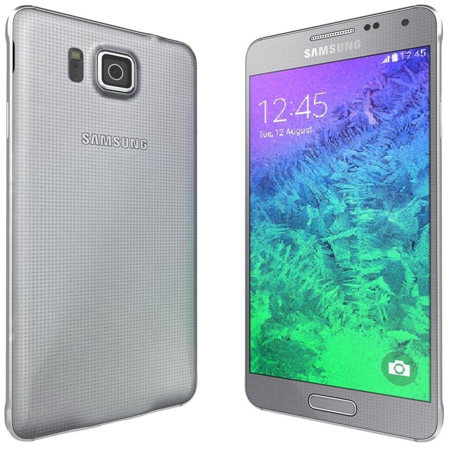 Samsung Galaxy Alpha elegante prata royalty-free 3d model - Preview no. 6