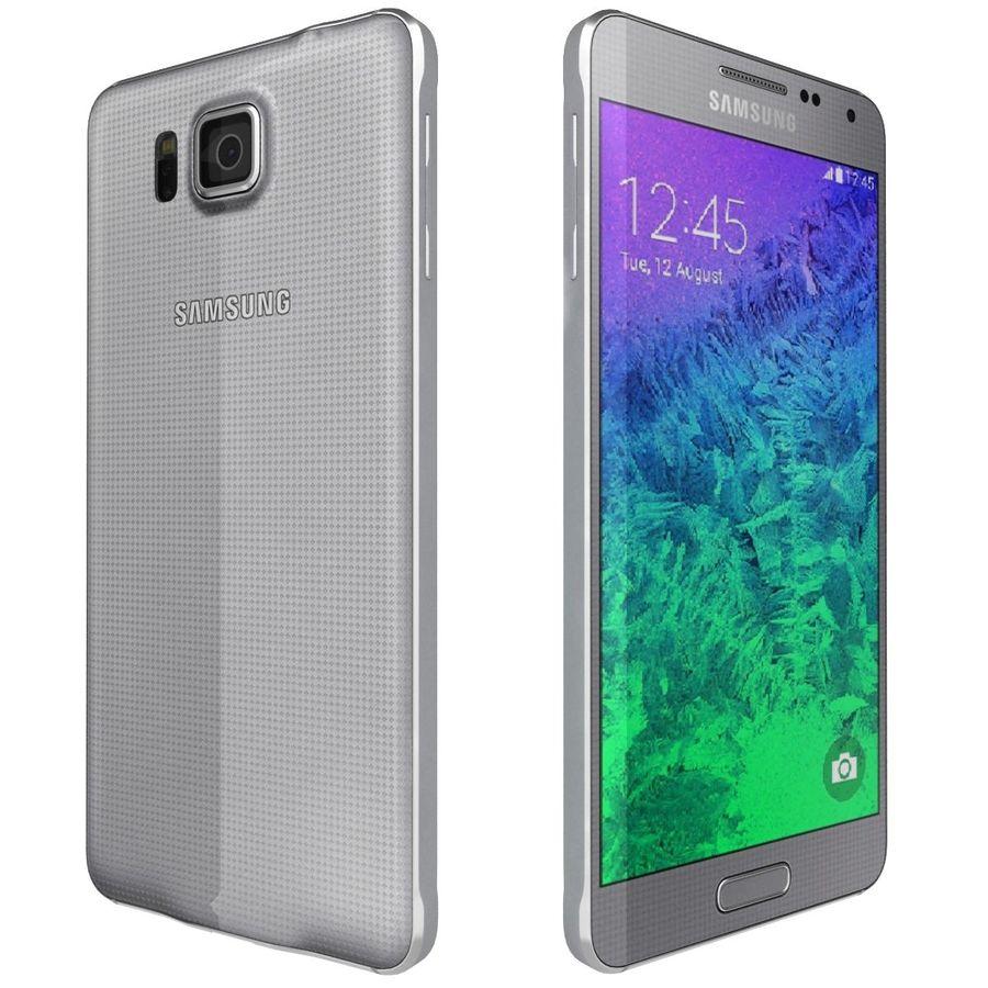 Samsung Galaxy Alpha elegante prata royalty-free 3d model - Preview no. 7