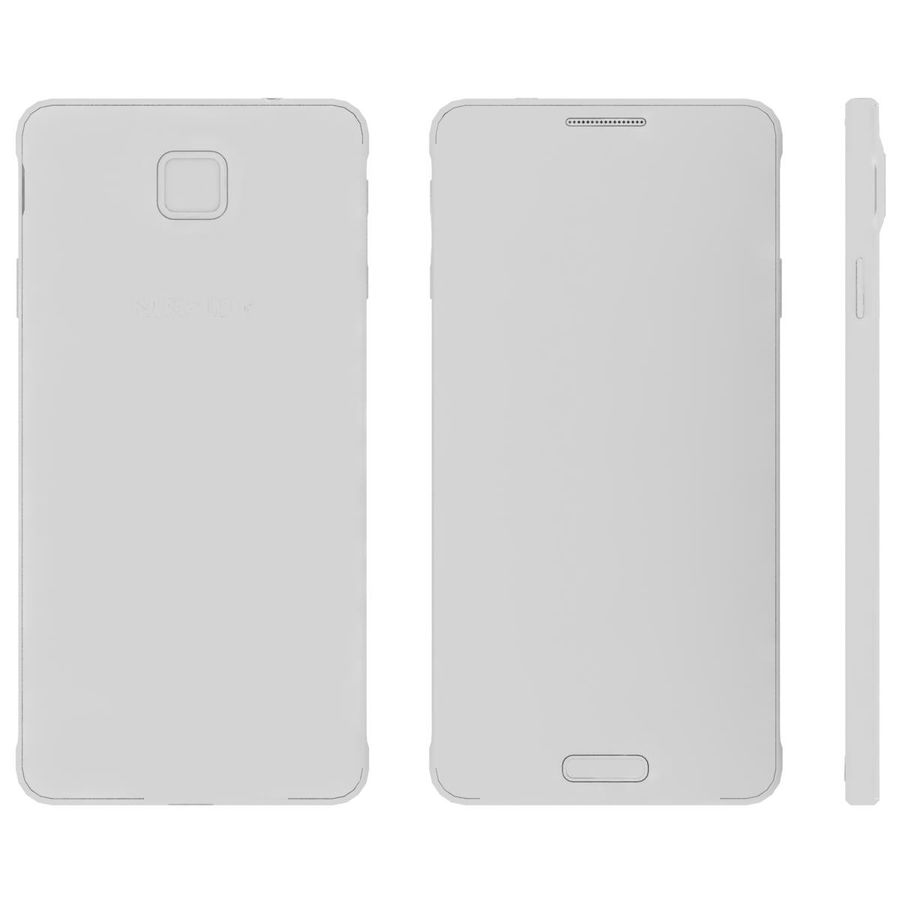 Samsung Galaxy Alpha elegante prata royalty-free 3d model - Preview no. 25