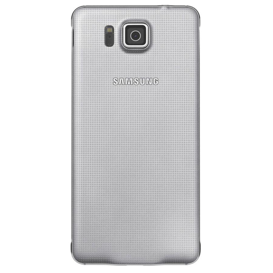 Samsung Galaxy Alpha elegante prata royalty-free 3d model - Preview no. 8