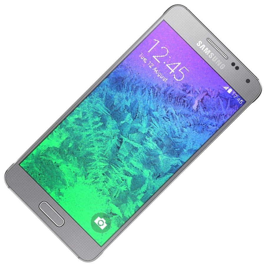 Samsung Galaxy Alpha elegante prata royalty-free 3d model - Preview no. 16